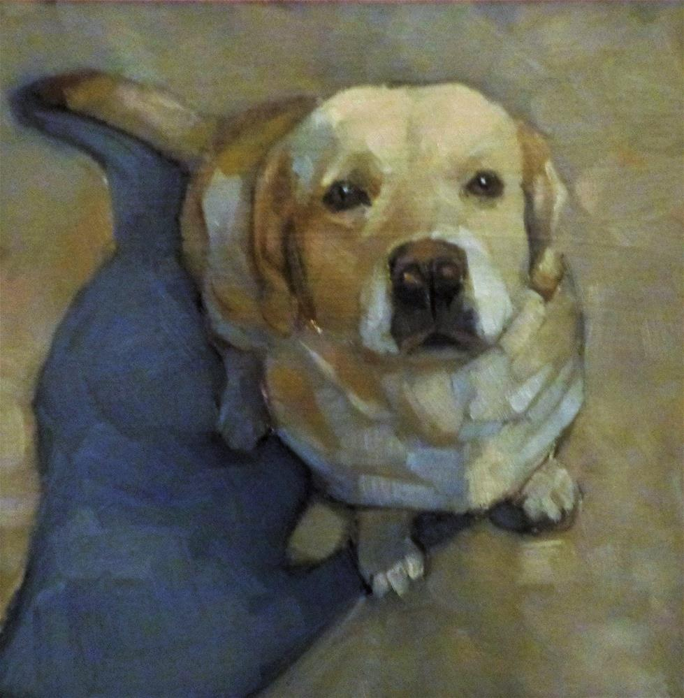 """Ready for a walk"" original fine art by Maria Z."