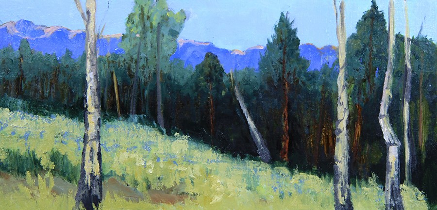 """""""Colorado Landscape Oil Painting Mountains Washed in Pastels by Colorado Landscape Artist Susan Fow"""" original fine art by Susan Fowler"""