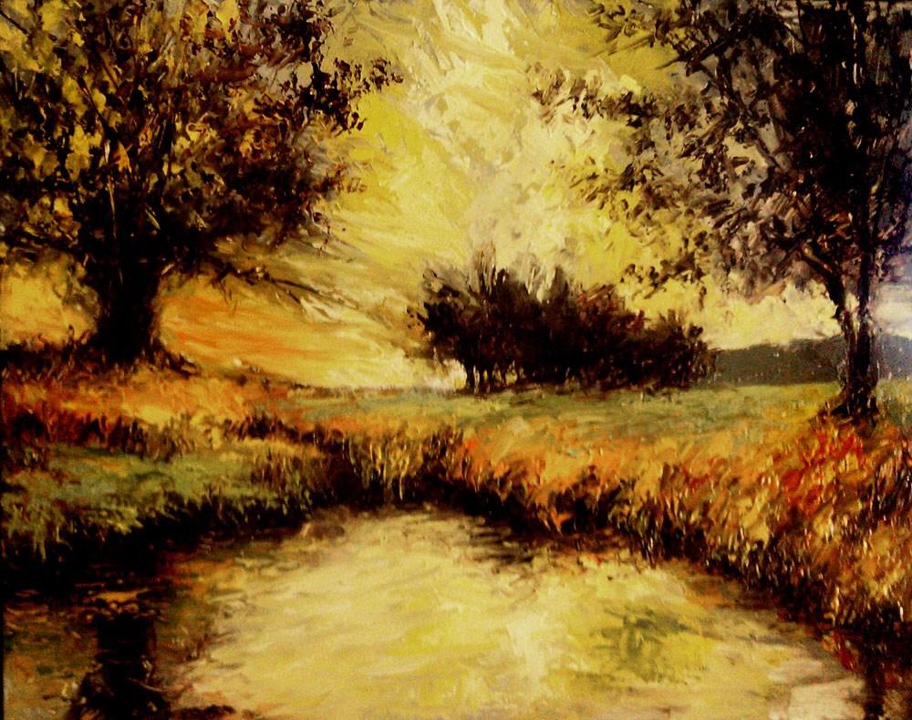 """The Fishing Hole"" original fine art by Bob Kimball"