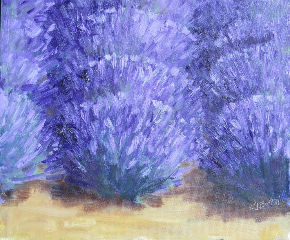 """Lavender in Full Bloom"" original fine art by Richard Kiehn"