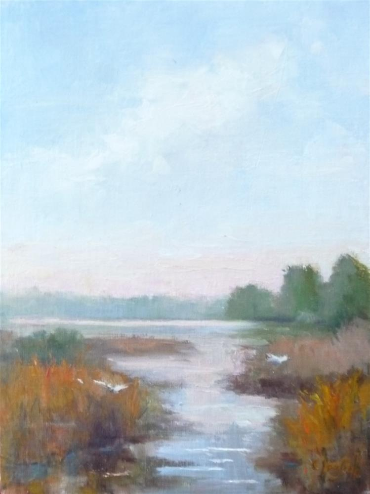 """Marsh"" original fine art by Carol Josefiak"