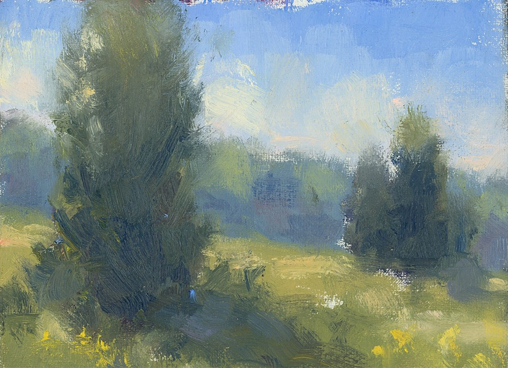 """Yellow Blue Mist"" original fine art by Todd Zuithof"