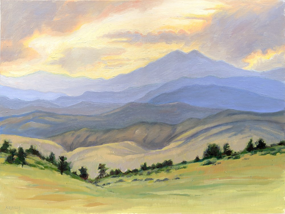"""""""Cloudy Afternoon"""" original fine art by Kath Reilly"""