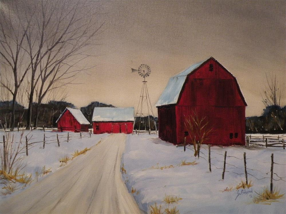 """Margaret Bings Farm"" original fine art by Steve Gibson"