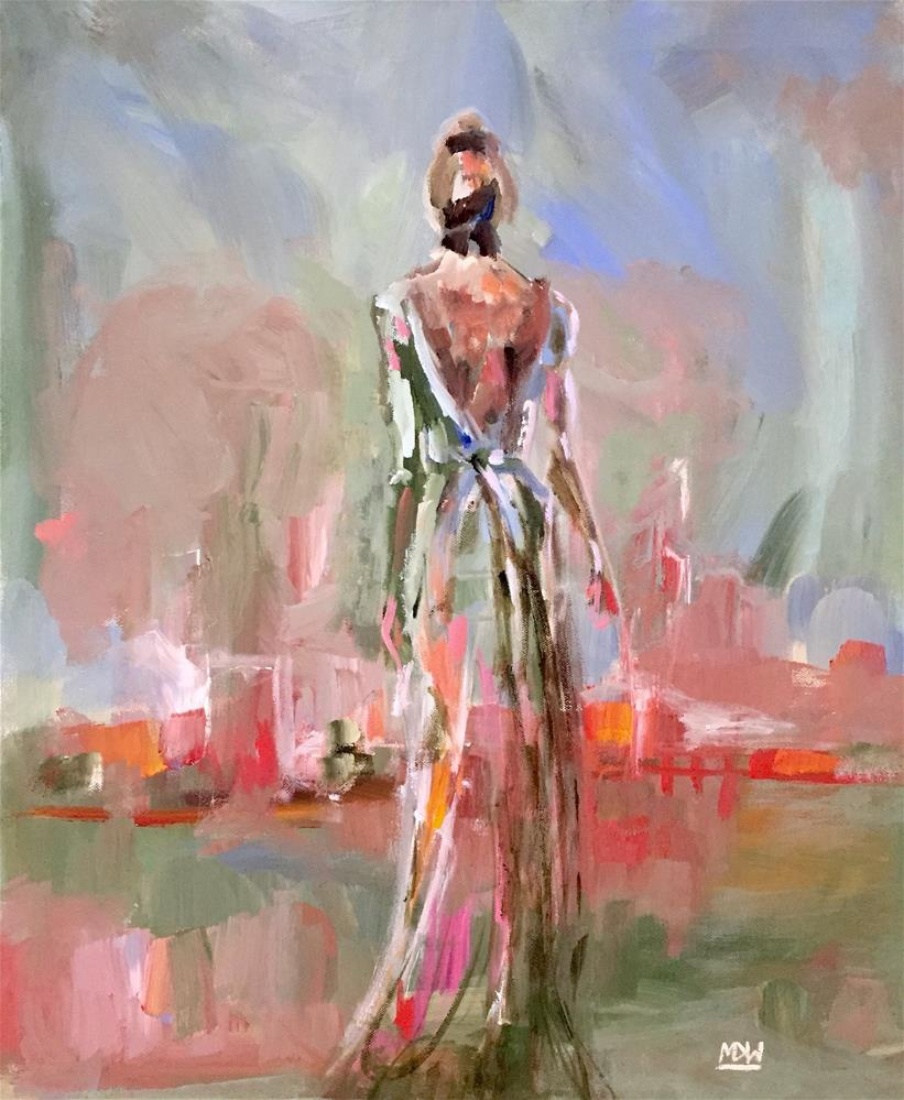 """The Gown"" original fine art by Molly Wright"