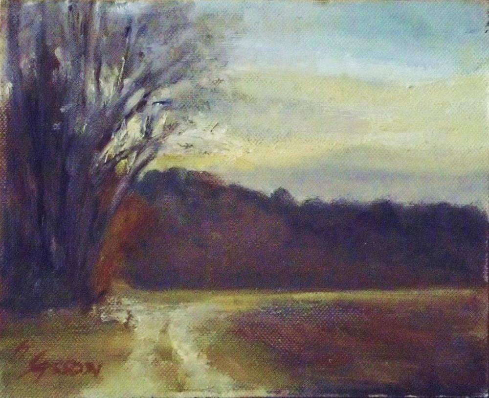 """Sundown at the forests edge"" original fine art by Michael Sason"