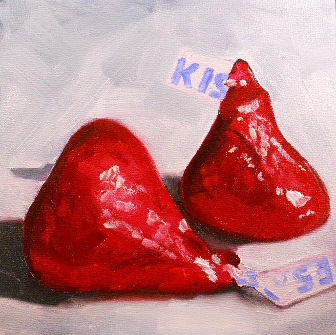 """Kiss, KIss"" original fine art by Claire Henning"