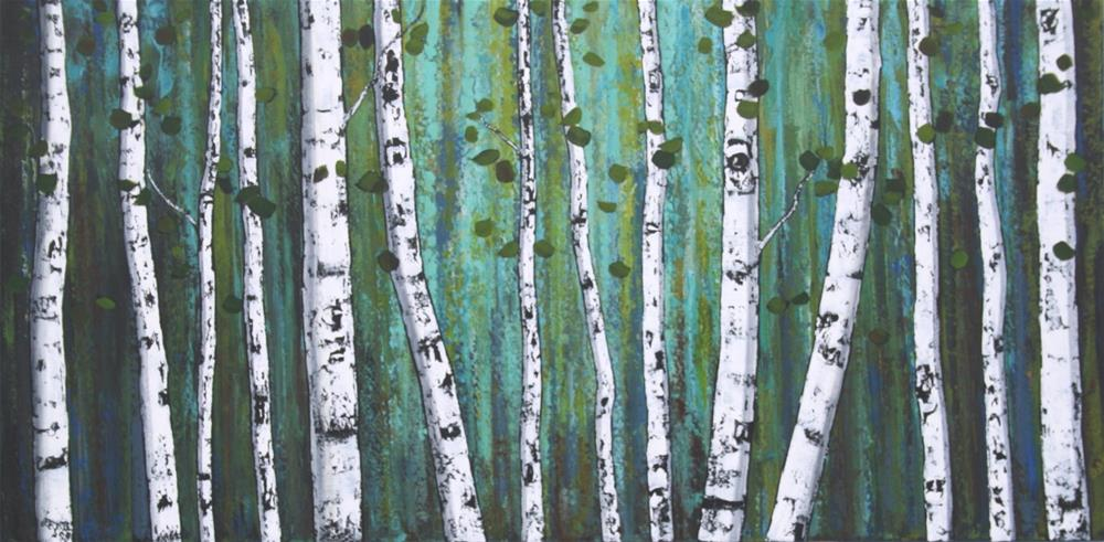 """Ghost Wood Grove"" original fine art by Sage Mountain"