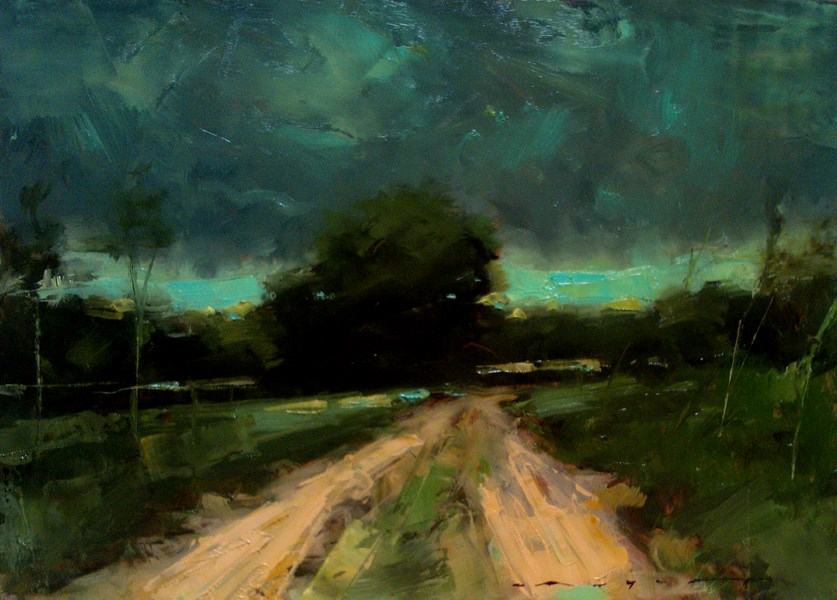 """Three Minutes Before the Rain"" original fine art by Angel Angelov"