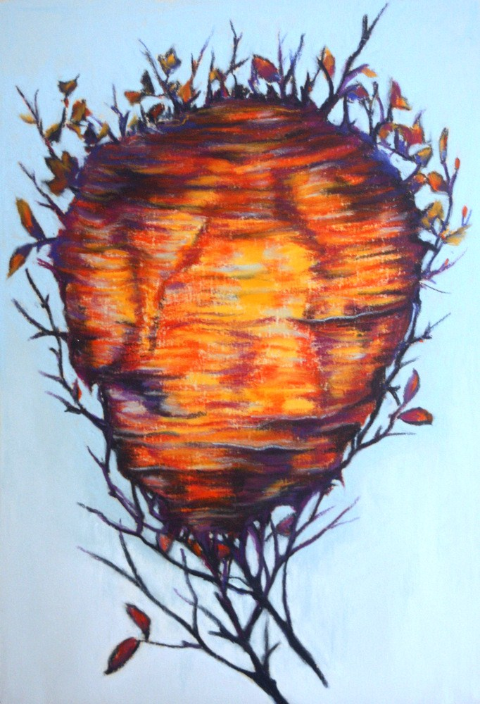 """The Wasp Nest"" original fine art by Jill Bates"