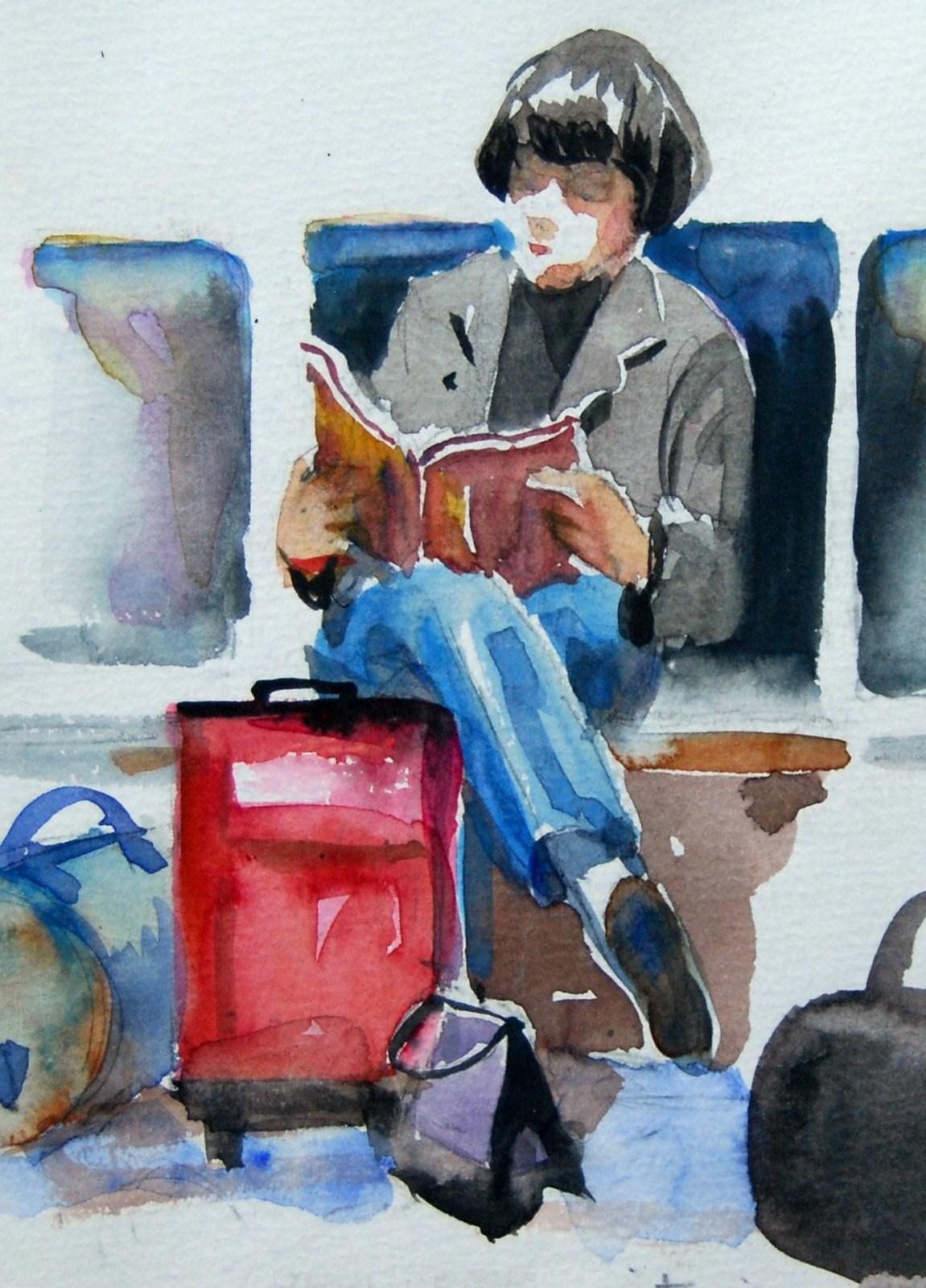 Waiting Passenger original fine art by Julie Ford Oliver