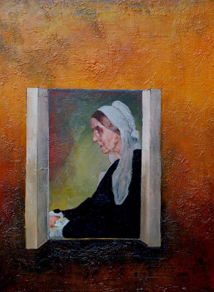 """Whistler mother. Mother challenge"" original fine art by V. DeBak"