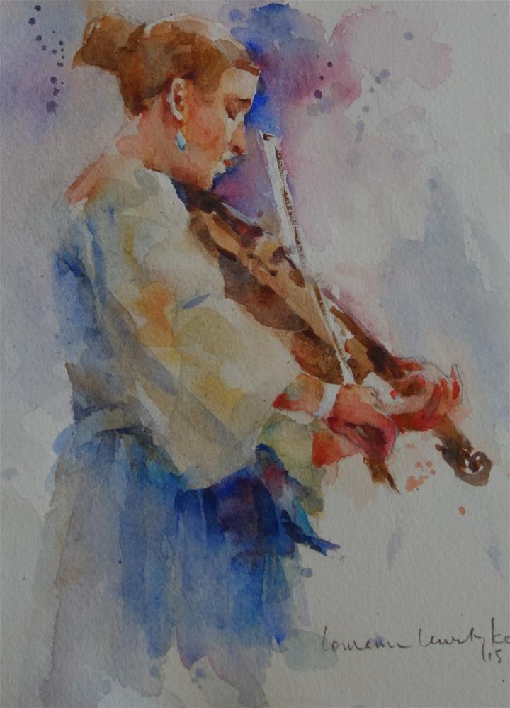 """Folk Musician"" original fine art by Lorraine Lewitzka"