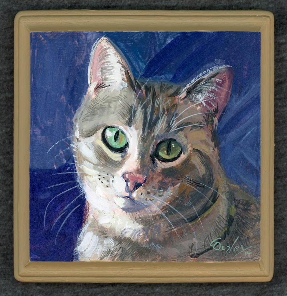 """Daniel and Shawna's Kitty"" original fine art by Chris Ousley"