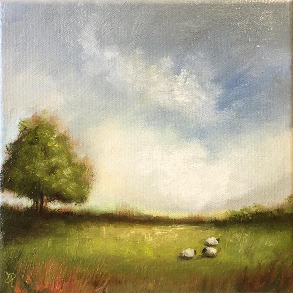 """three sheep"" original fine art by Jane Palmer"