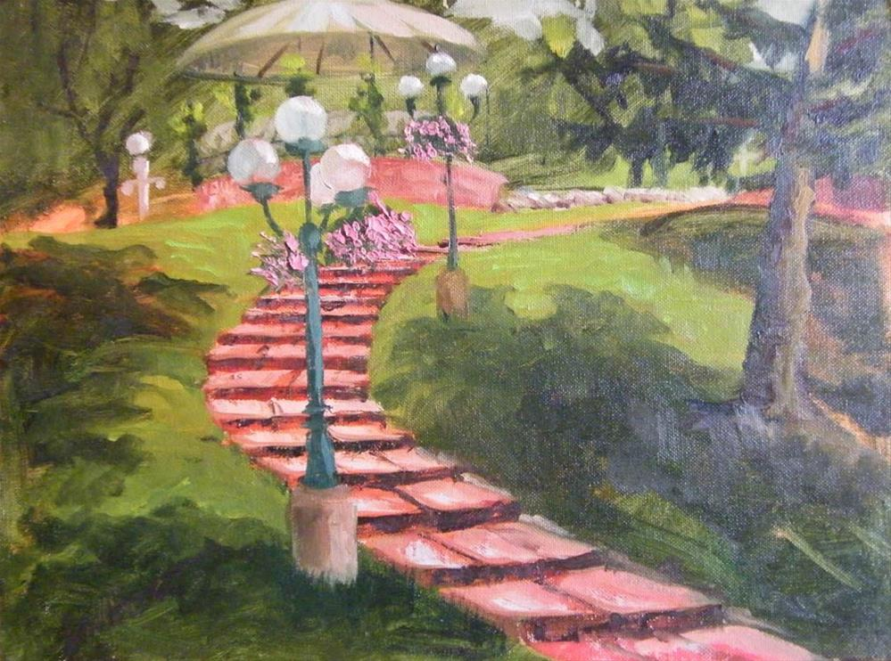 """Garden Path"" original fine art by Donna Whatcott Parsons"