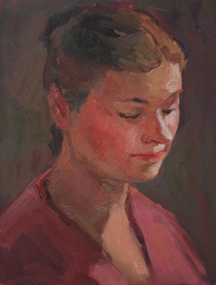 """Portrait Study #22"" original fine art by Kathryn Townsend"
