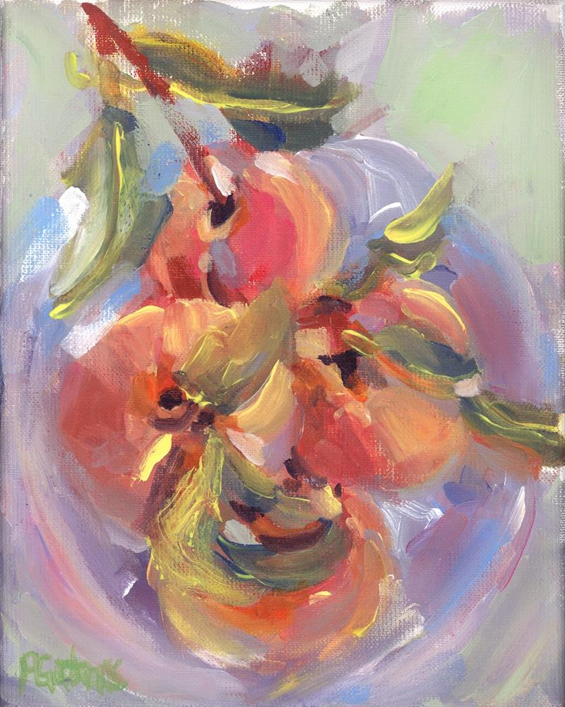"""Peachy Pickins"" original fine art by Pamela Gatens"
