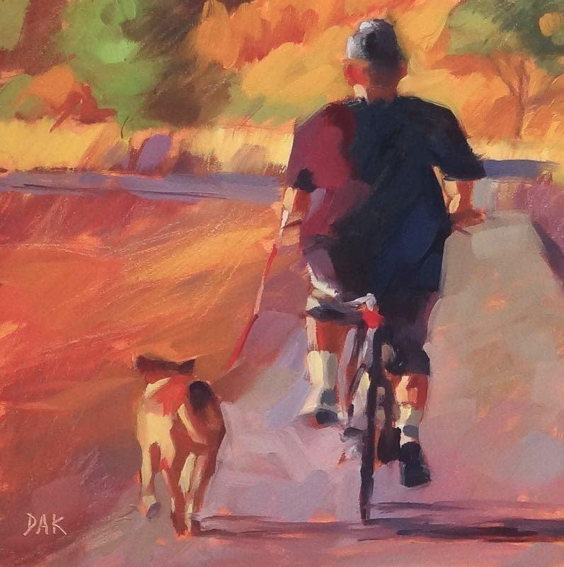 """Bike Time"" original fine art by Deborah Ann Kirkeeide"