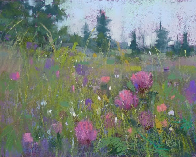 """Announcing IAPS 12 and The Landscape in Bloom"" original fine art by Karen Margulis"