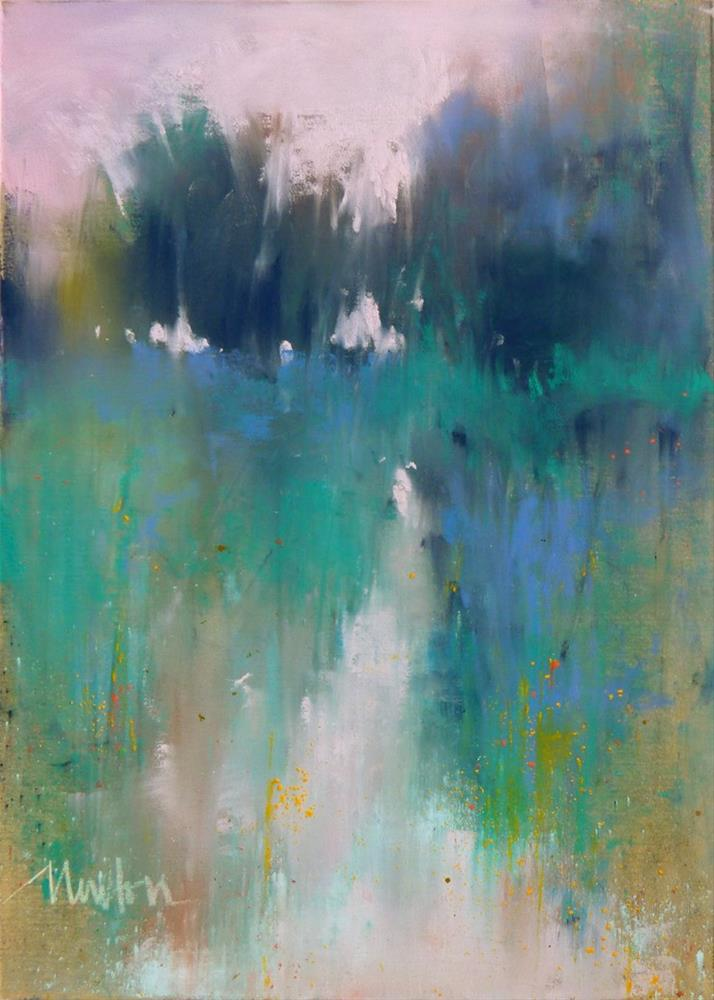 """Rock Creek Series: #3"" original fine art by Barbara Benedetti Newton"