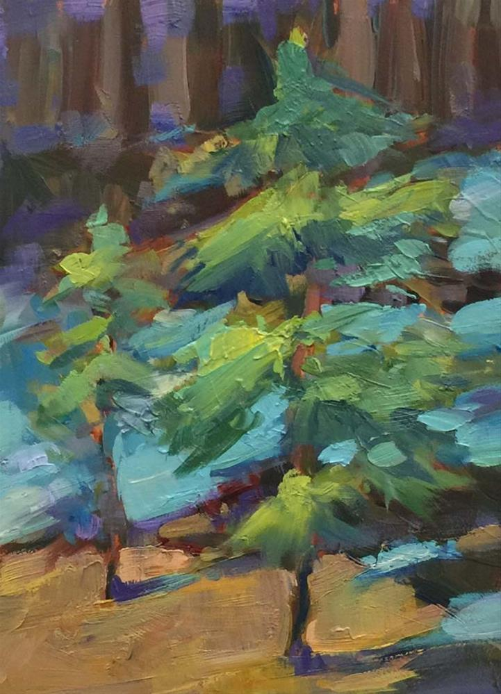 """Little Trees and Big Shadows"" original fine art by Patti McNutt"
