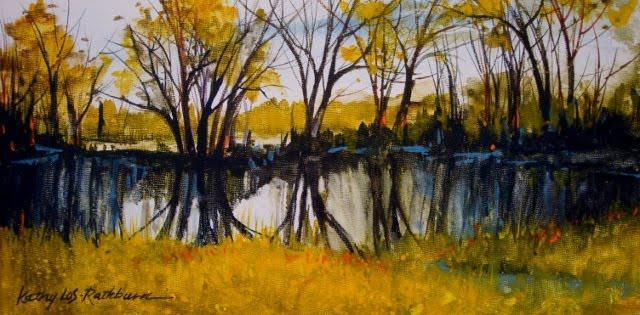 """""""Prairie on Canvas Board"""" original fine art by Kathy Los-Rathburn"""