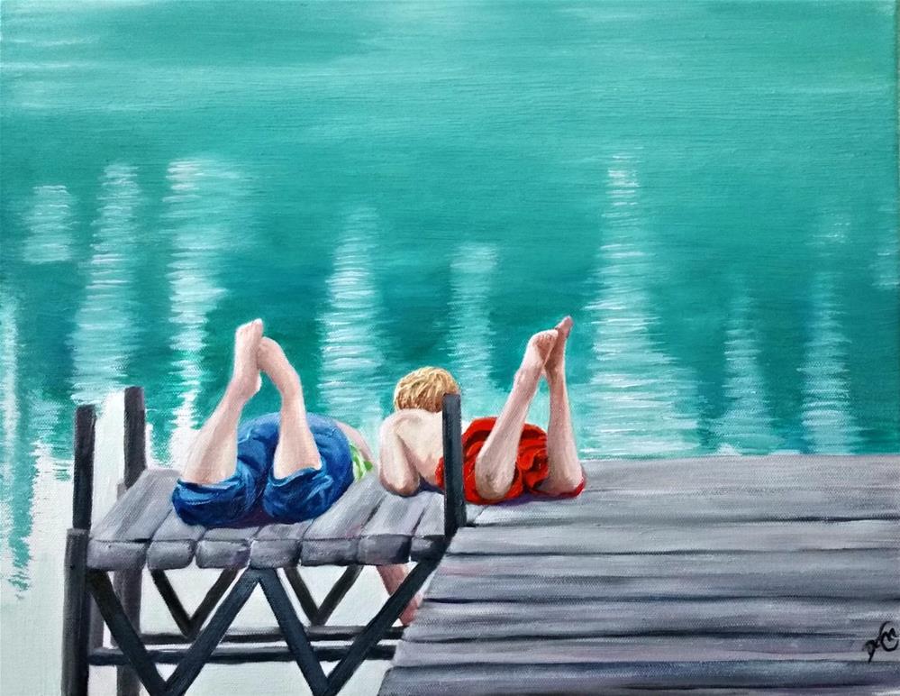 """Dog Days of Summer"" original fine art by Dana C"