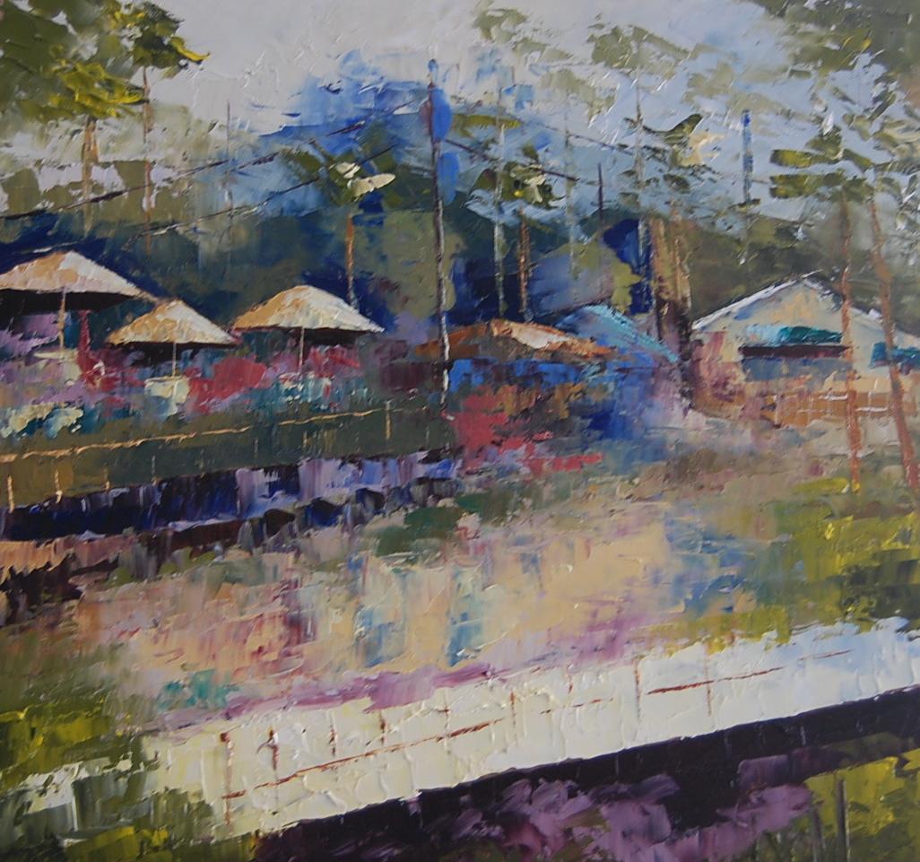 """Abstract of Crystal Cove"" original fine art by Deborah Harold"
