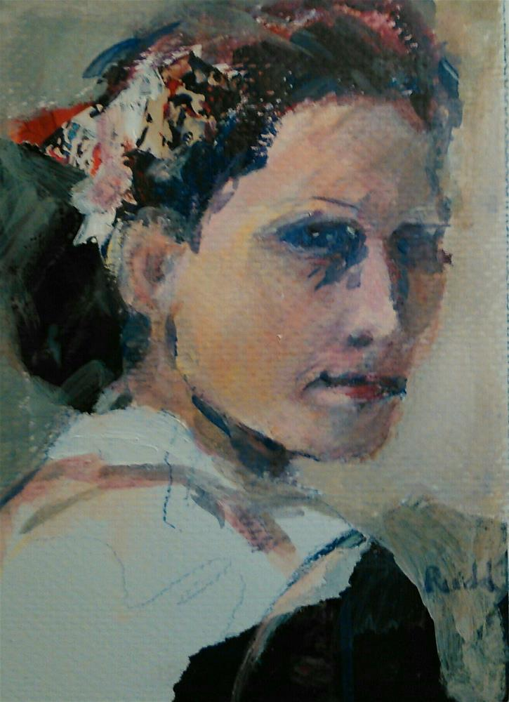 """Untitled Lady"" original fine art by Ann Rudd"