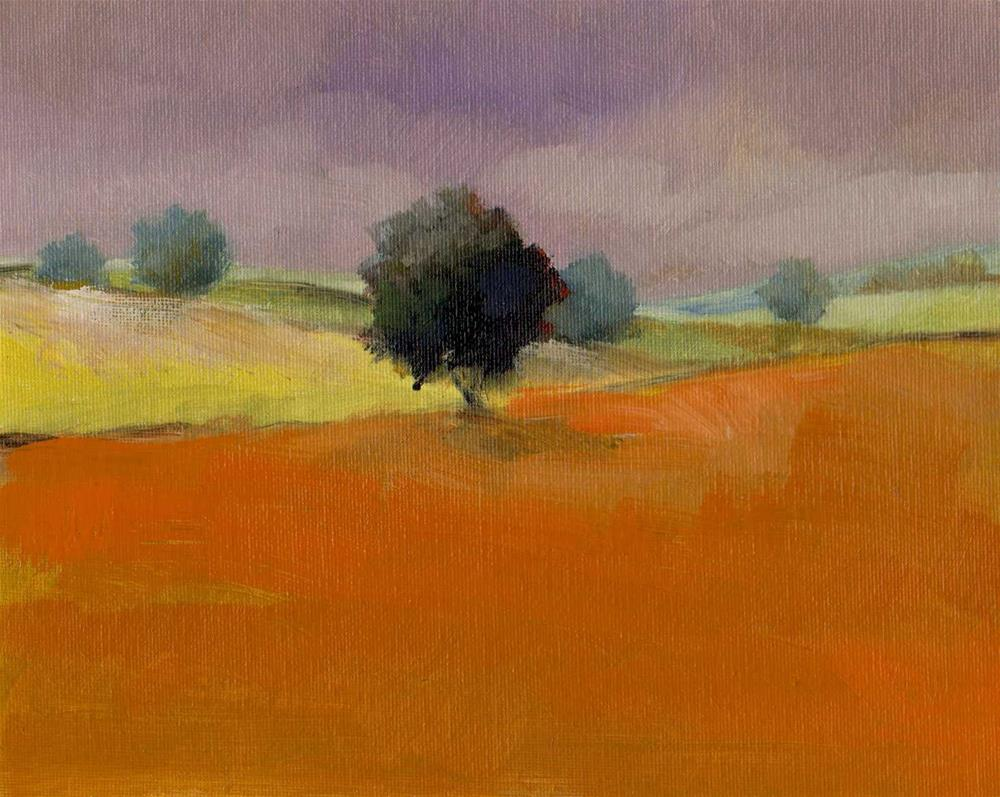 """lonely tree"" original fine art by V. DeBak"