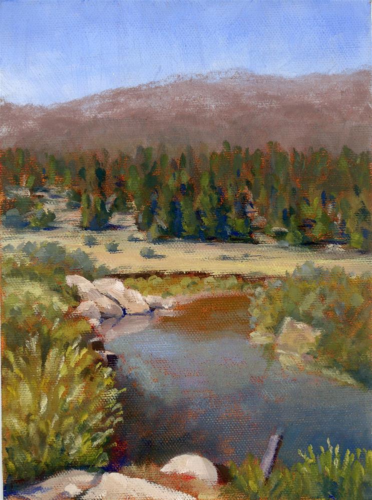 """On the way to Tahoe Study"" original fine art by Susanne Billings"