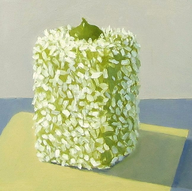 """Green Tea Lamington"" original fine art by Karen Johnston"