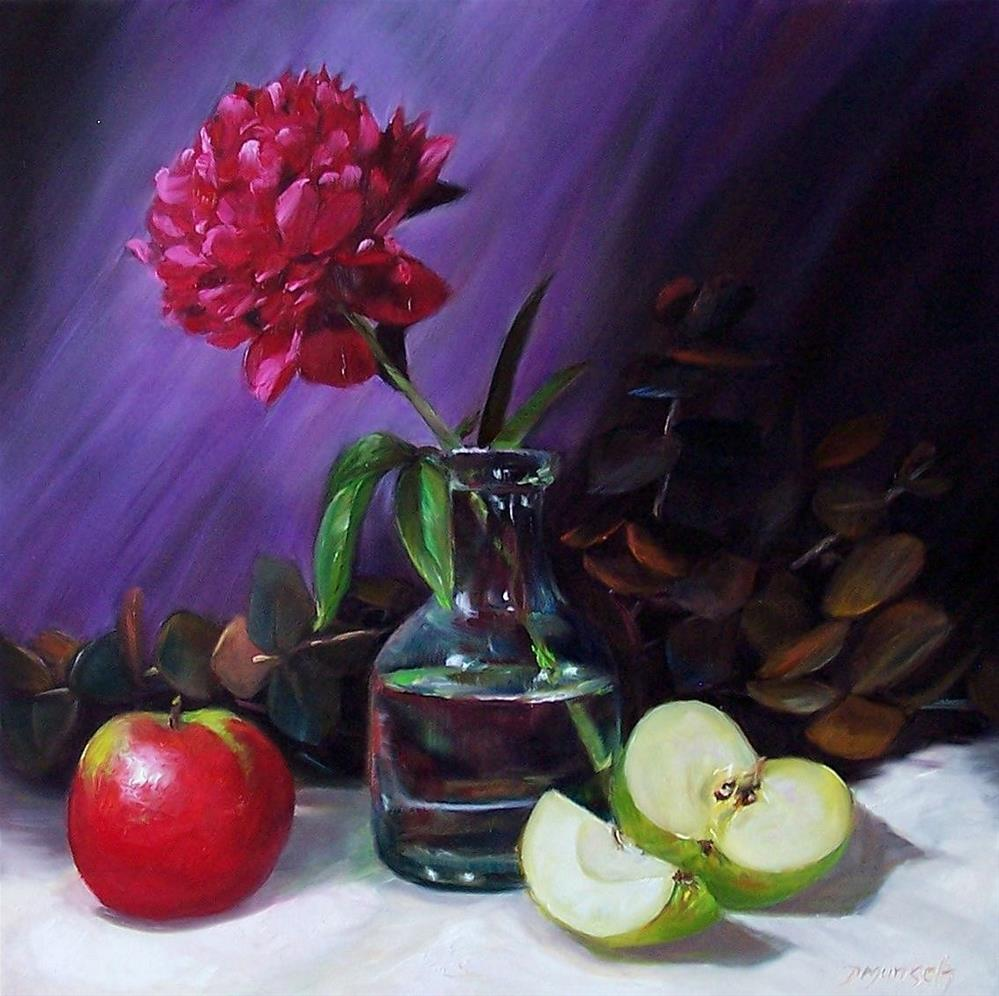 """Ruby Peony"" original fine art by Donna Munsch"