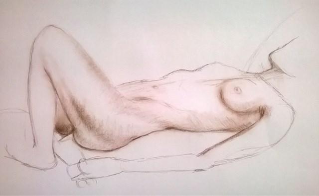 """""""Torso study"""" original fine art by Hilary J. England"""