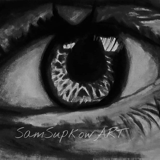 """Eye sketch"" original fine art by Sam Supkow"