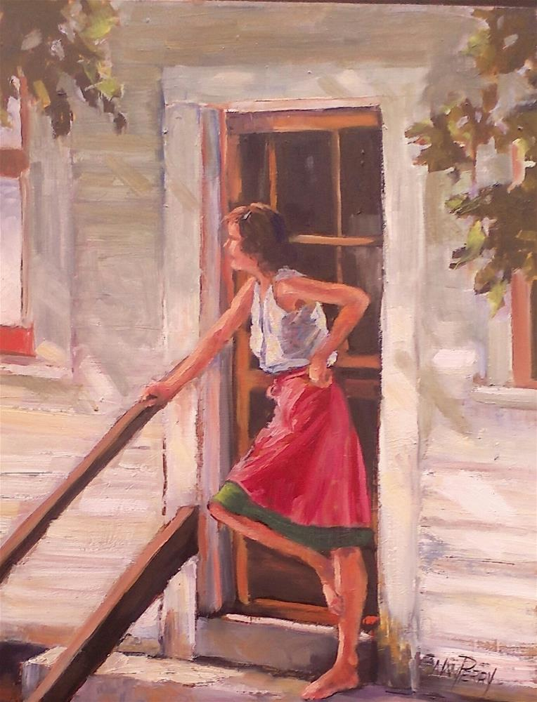 """Waiting"" original fine art by Nan Perry"