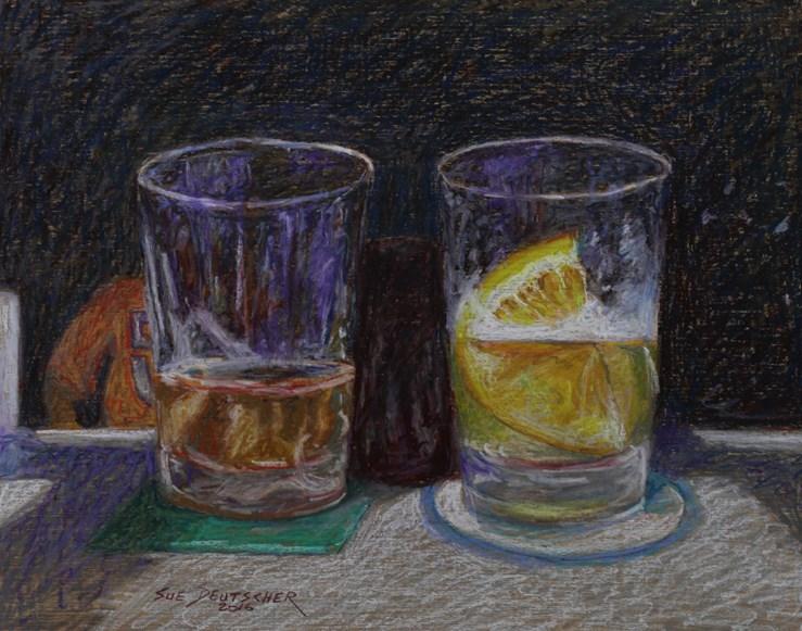 """""""Mmm Beer"""" original fine art by Sue Deutscher"""