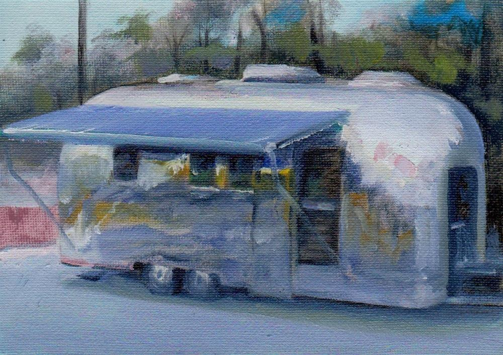 """trailer"" original fine art by Vova DeBak"