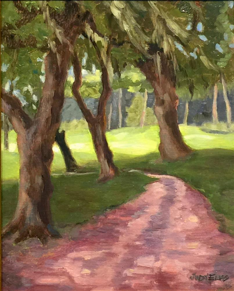 """Cart Path #2  "" original fine art by Judy Elias"