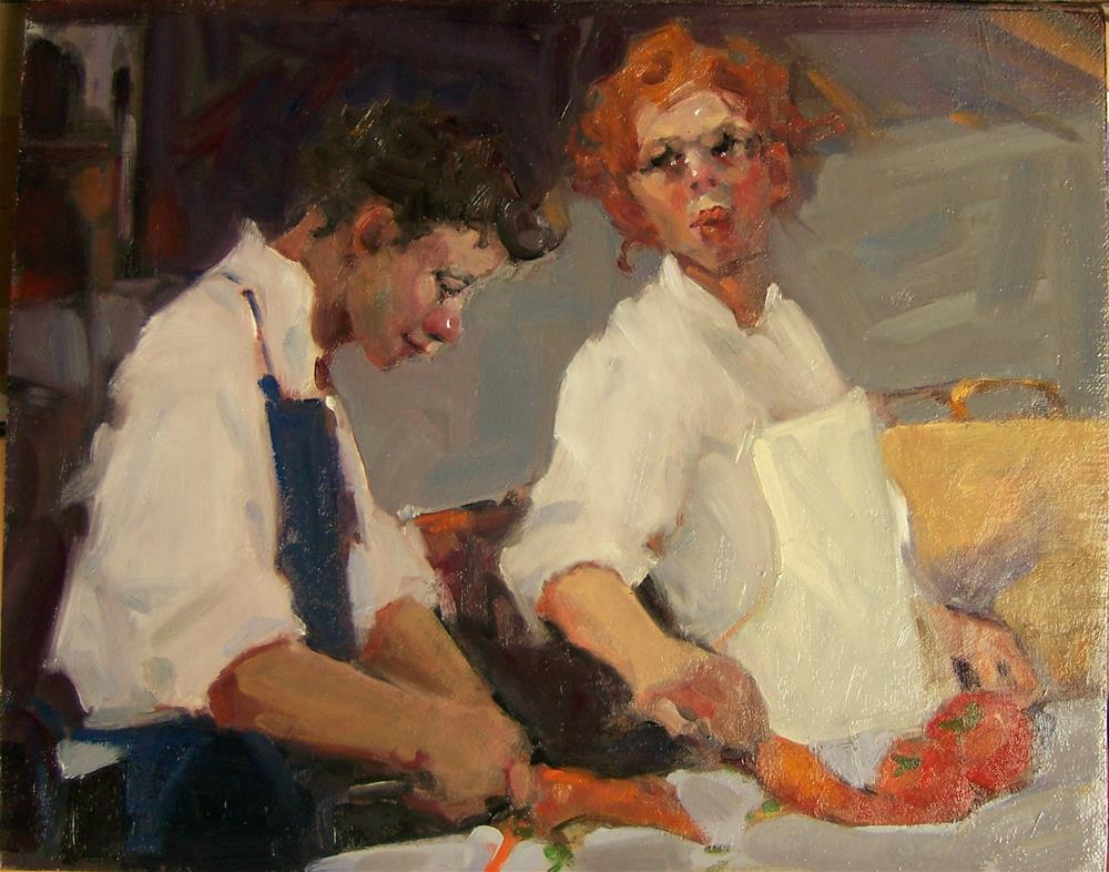 """Carrots &Tomatoes"" original fine art by Kim Roberti"