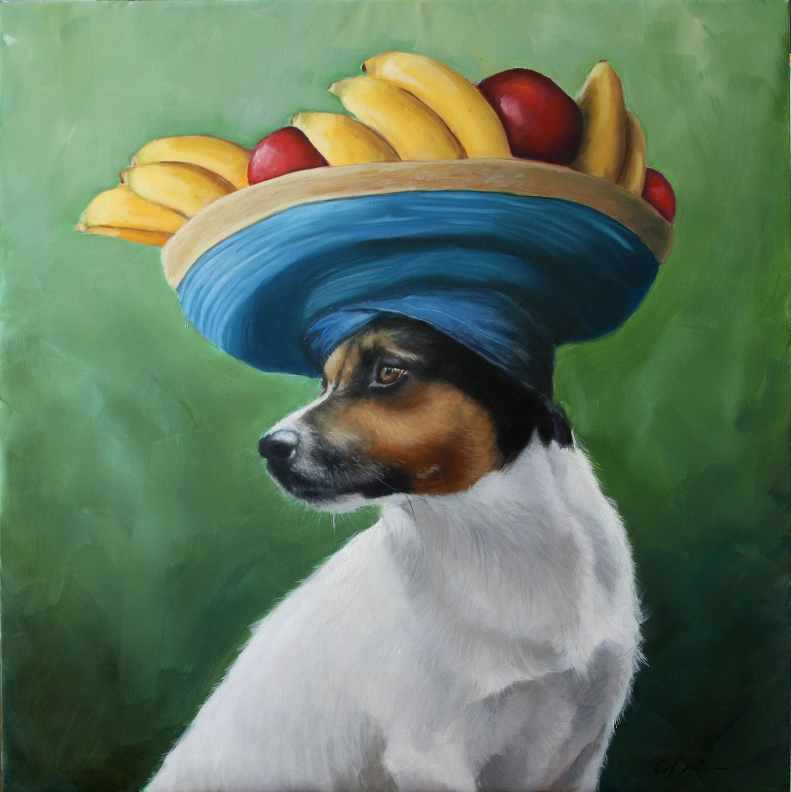 """Chiquita Banana"" original fine art by Clair Hartmann"