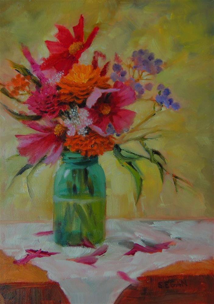 """Last Bouquet of Summer"" original fine art by Sharon Egan"