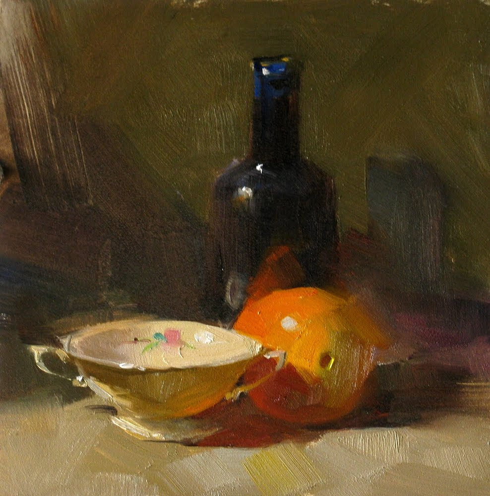 """Orange in Vermont --- Sold"" original fine art by Qiang Huang"