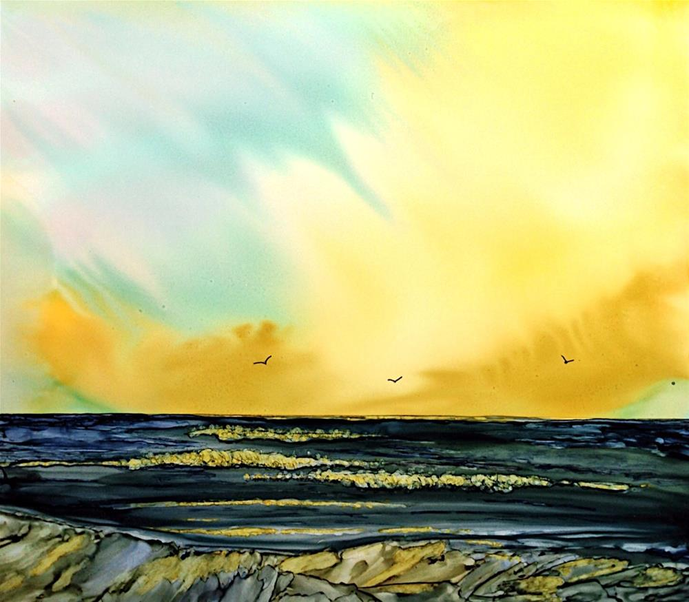 """Sunset's End"" original fine art by Korinne Carpino"