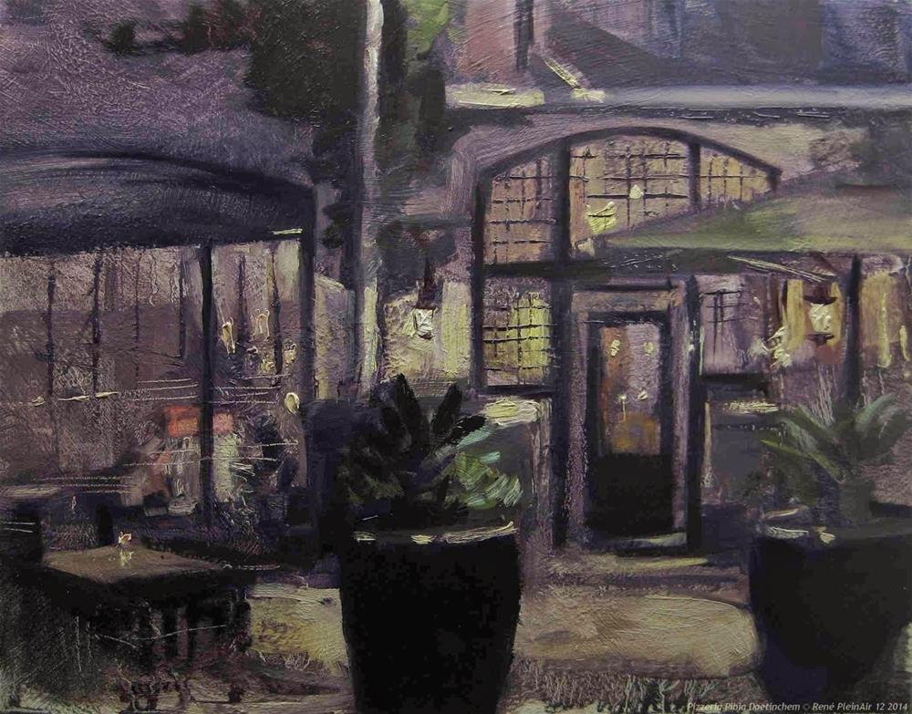 """Pizzaria Pibia, Doetinchem, The Netherlands"" original fine art by René PleinAir"