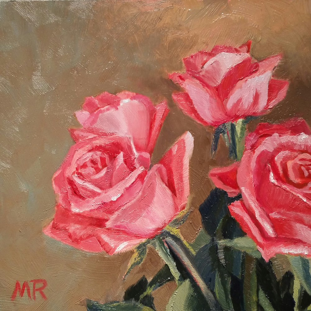 """Birthday Roses"" original fine art by Michelle Rideout"