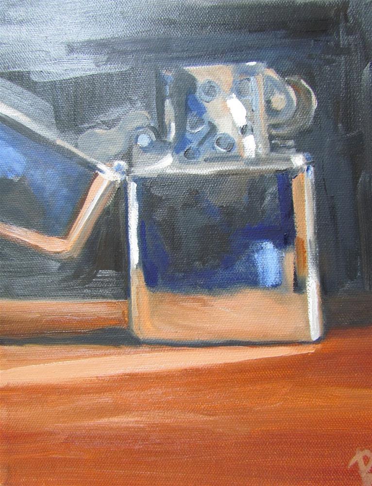 """Remembering Zippo"" original fine art by Peggy Schumm"
