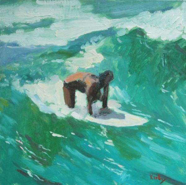 """Green Wave"" original fine art by Randall Cogburn"