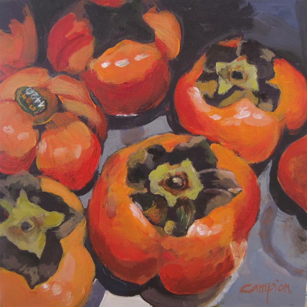 """The Publican Restaurant Persimmons"" original fine art by Diane Campion"